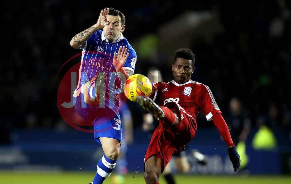 Cheick Keita of Birmingham City is closed down by Ross Wallace of Sheffield Wednesday - Mandatory by-line: Robbie Stephenson/JMP - 10/02/2017 - FOOTBALL - Hillsborough - Sheffield, England - Sheffield Wednesday v Birmingham City - Sky Bet Championship