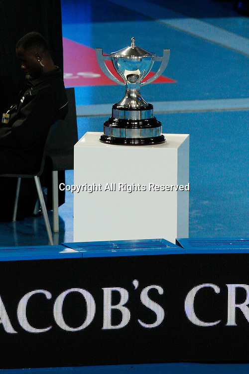 07.01.2017. Perth Arena, Perth, Australia. Mastercard Hopman Cup International Tennis tournament. The Trophy up for grabs for the winners of the Final between the U.S.A. and France.