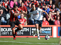 Erik Lamela of Tottenham Hotspur battles for the ball with Charlie Daniels of Bournemouth - Mandatory by-line: Alex James/JMP - 22/10/2016 - FOOTBALL - Vitality Stadium - Bournemouth, England - AFC Bournemouth v Tottenham Hotspur - Premier League
