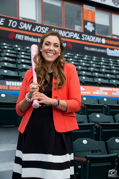 Juliana Paoli, Chief Marketing Officer of the San Jose Giants, poses for a portrait at the San Jose Municipal Stadium in San Jose, California, on March 24, 2017. (Stan Olszewski/SOSKIphoto) Juliana Paoli, Chief Marketing Officer of the San Jose Giants, poses for a portrait at the San Jose Municipal Stadium in San Jose, California, on March 24, 2017. (Stan Olszewski for Silicon Valley Business Journal)