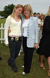 Left to right, MISS BELLA BENSON and her mother INGRID SEWARD at the Kuoni World Class Polo Day held at Hurtwood Park Polo Club, Surrey on 29th May 2005.<br /><br />NON EXCLUSIVE - WORLD RIGHTS