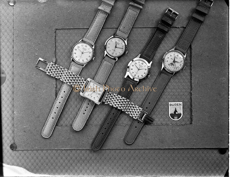05/11/1952<br /> 11/02/1952<br /> 05 November 1952<br /> Jameson Buren mens watches for advertisement for Domas Ltd.  Jameson and Co. jewellers was situated at 33 Henry Street, just off O'Connell street Dublin.