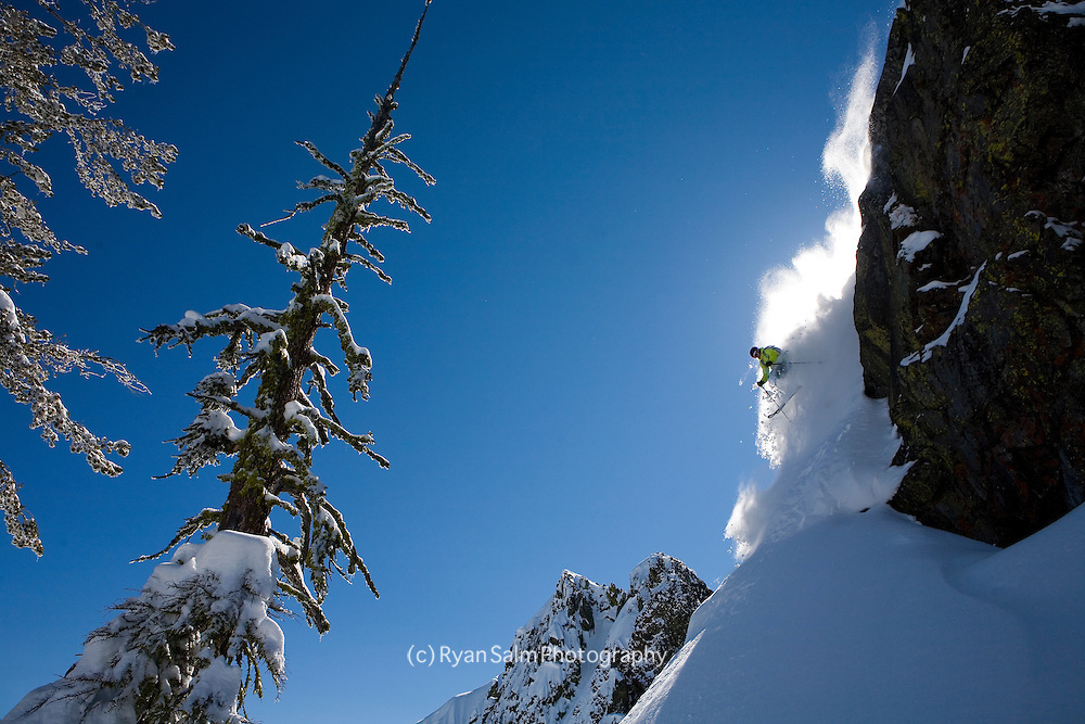 Jeremy Benson skis fresh pow on Tahoe's West Shore
