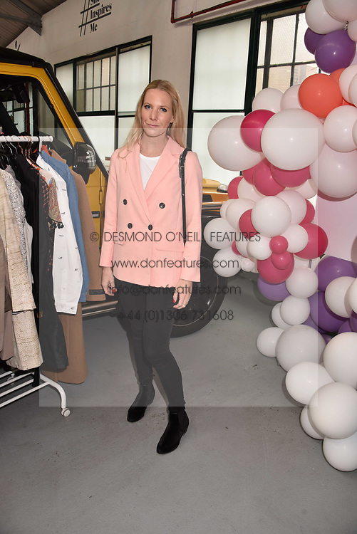 Alice Naylor-Leyland at the #SheInspiesMe Car Boot Sale in aid of Women for Women International held Brewer Street Car Park, Soho, London England. 6 May 2017.<br /> Photo by Dominic O'Neill/SilverHub 0203 174 1069 sales@silverhubmedia.com