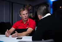 Football - 2019 / 2020 Gallagher Premiership Rugby - New Season Launch Media Photocall<br /> <br /> Saracens Director of Rugby Mark McCall fields questions during an open media session, at Twickenham.<br /> <br /> COLORSPORT/ASHLEY WESTERN
