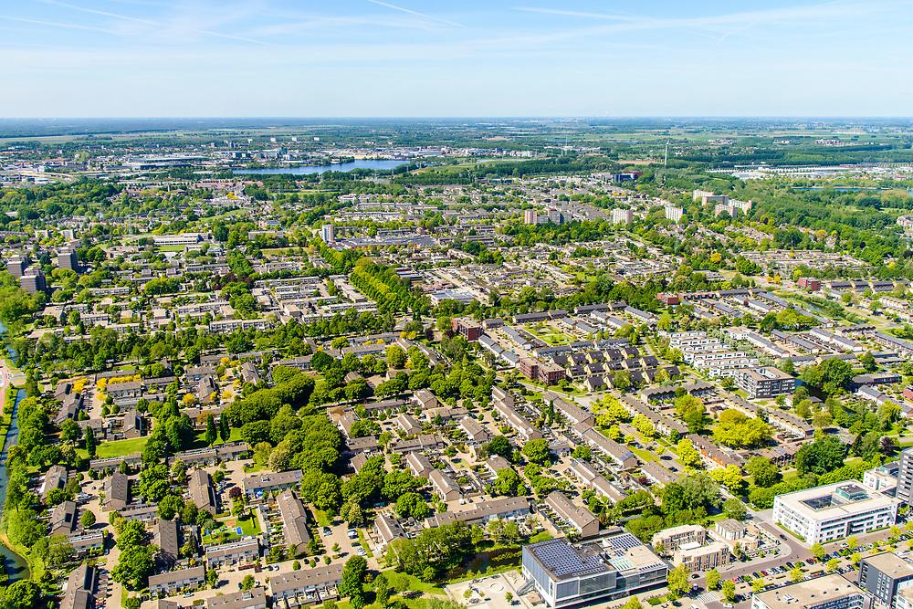Nederland, Noord-Brabant, Den Bosch, 13-05-2019; stadsdeel Noord, woonwijk De Donk.<br /> Residential area Den Bosch.<br /> <br /> aerial photo (additional fee required); luchtfoto (toeslag op standard tarieven); copyright foto/photo Siebe Swart