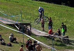 Adam Vagner (CZE) of Elite Men category at MTB Downhill European Championships, on June 14, 2009, at Kranjska Gora, Slovenia. (Photo by Vid Ponikvar / Sportida)