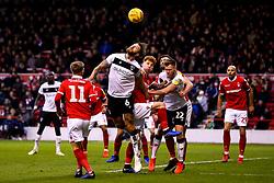 Nathan Baker of Bristol City heads the ball - Mandatory by-line: Robbie Stephenson/JMP - 19/01/2019 - FOOTBALL - The City Ground - Nottingham, England - Nottingham Forest v Bristol City - Sky Bet Championship