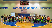 Houston ISD Nutrition Services staff are recognized during a welcome back at Barnett Field House, August 18, 2014.