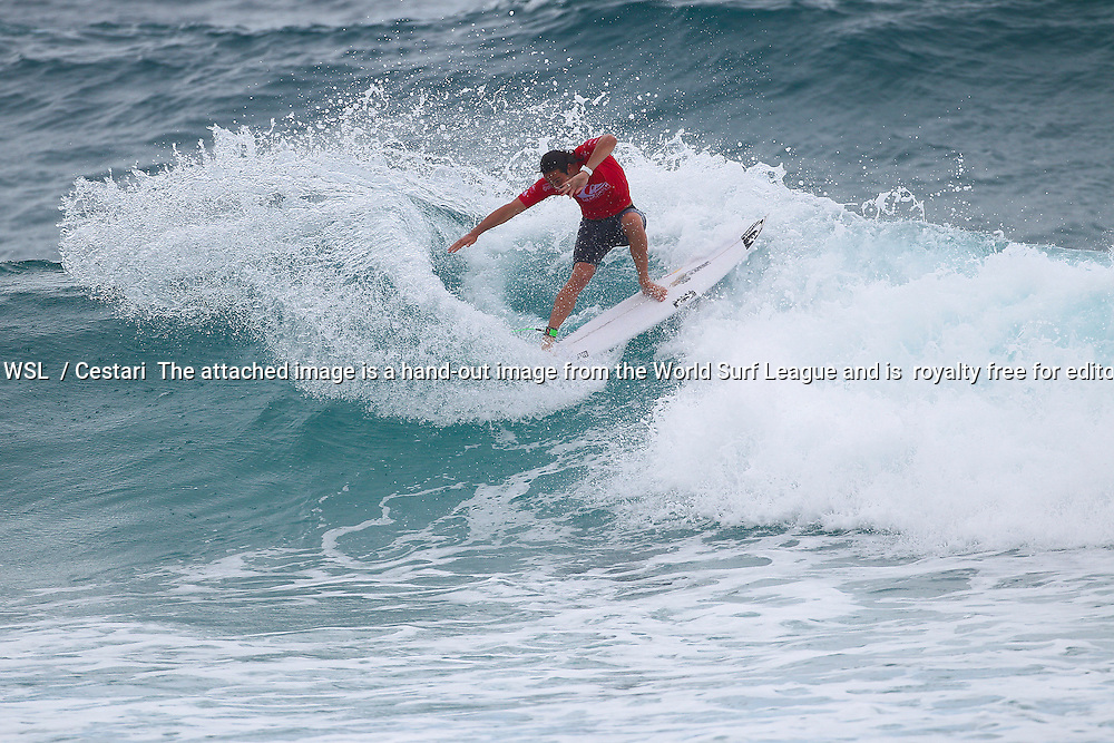 Jordy Smith of South Africa (pictured) eliminated in Round 2 of the Quiksilver Pro Gold Coast on Sunday March 13, 2016. PHOTO CREDIT: © WSL/ Cestari SOCIAL MEDIA TAG: @wsl @kc80 The attached image is a hand-out image from the World Surf League and is royalty free for editorial use only, no commercial rights granted. The copyright is owned by World Surf League. Sale or license of the images is prohibited. ALL RIGHTS RESERVED.