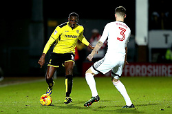 Lucas Akins of Burton Albion takes on Scott Malone of Fulham - Mandatory by-line: Robbie Stephenson/JMP - 01/02/2017 - FOOTBALL - Pirelli Stadium - Burton Upon Trent, England - Burton Albion v Fulham - Sky Bet Championship