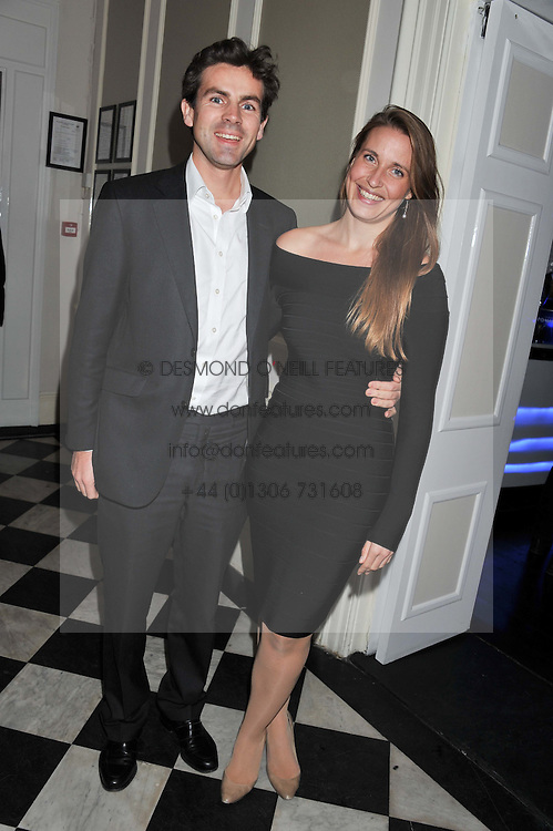 JACK SMALES and CHRISTOBEL READMAN at a reception hosted by Beulah London and the United Nations to launch Beulah London's AW'11 Collection 'Clothed in Love' and the Beulah Blue Heart Campaign held at Dorsia, 3 Cromwell Road, London SW7 on 18th October 2011.