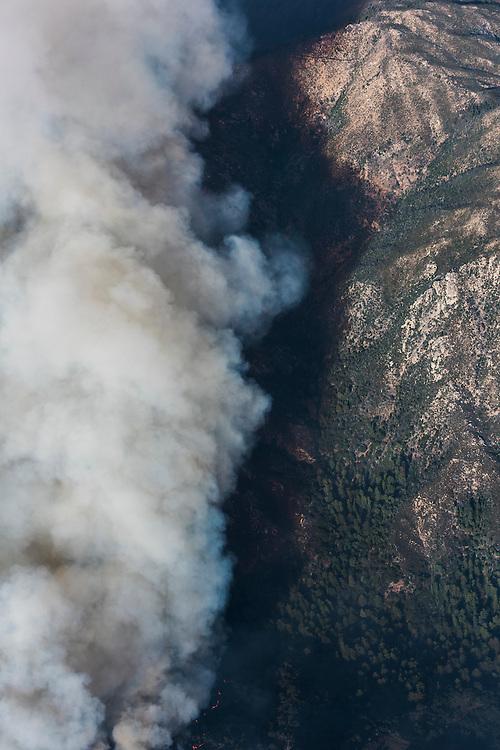 Smoke from the Soberanes fire settles in a canyon. ©2016 Sivani Babu