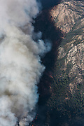 Smoke from the Soberanes fire settles in a canyon. ©2016 Sivani Babu