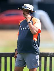 India head coach Ravi Shastri during a nets session at Edgbaston, Birmingham.