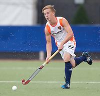 DEN BOSCH -   Rik van Kan tijdens de wedstrijd tussen de mannen van Jong Oranje  en Jong Engeland, tijdens het Europees Kampioenschap Hockey -21. ANP KOEN SUYK