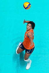 11–01-2020 NED: Semi Final Olympic qualification tournament women Germany - Netherlands, Apeldoorn<br /> First semi final match Germany - Netherlands 3-0 / Celeste Plak #4 of Netherlands