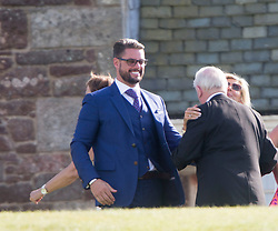 Keith Duffy. Ronan Keating wedding to Storm Uechtritz at Archerfield today.