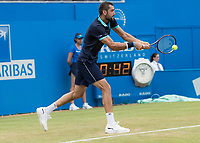 Tennis - 2017 Aegon Championships [Queen's Club Championship] - Day Three, Wednesday<br /> <br /> Men's Singles: Round of 16 _ Tomas Berdych (CZE) Vs Denis Shapovalov (CAN)<br /> <br /> Marin Cilic (CRO) with a return of serve at Queens Club<br /> <br /> COLORSPORT/DANIEL BEARHAM