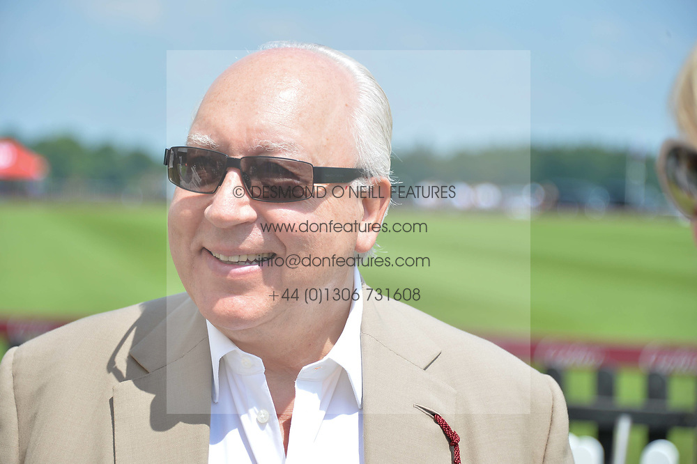 Urs Schwarzenbach at Cartier Queen's Cup Polo, Guard's Polo Club, Berkshire, England. 18 June 2017.