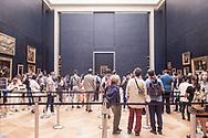 A short line to see Leonardo Da Vinci's Monna Lisa