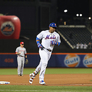 NEW YORK, NEW YORK - APRIL 26:  Yoenis Cespedes #52 of the New York Mets runs the bases after hitting a pinch hit three run home run during the New York Mets Vs Cincinnati Reds MLB regular season game at Citi Field on April 26, 2016 in New York City. (Photo by Tim Clayton/Corbis via Getty Images)