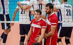 23-09-2016 NED: EK Kwalificatie Turkije - Wit Rusland, Koog aan de Zaan<br /> Turkije had het vrij lastig in de eerste wedstrijd tegen Wit Rusland maar blijven meedoen voor het EK ticket / Batburalp Burak Gunvor and Gokhan Gokgoz