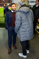 Bristol City Head Coach Lee Johnson meets Manchester United manager Jose Mourinho in the tunnel before the game - Rogan/JMP - 20/12/2017 - Ashton Gate Stadium - Bristol, England - Bristol City v Manchester United - Carabao Cup Quarter Final.