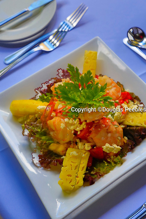 Shrimp salad, Matangi Private Island Resort, Fiji