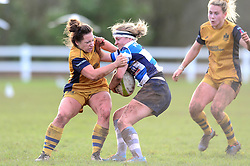 Becki Belcher of Bristol Ladies makes a challenge - Mandatory by-line: Dougie Allward/JMP - 11/12/2016 - RUGBY - Cleve RFC - Bristol, England - Bristol Ladies v Darlington Mowden Park Ladies - RFU Women's Premiership