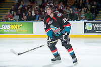 KELOWNA, CANADA - OCTOBER 19: Joe Gatenby #28 of the Kelowna Rockets skates on the ice against the Prince George Cougars on October 19, 2013 at Prospera Place in Kelowna, British Columbia, Canada.   (Photo by Marissa Baecker/Shoot the Breeze)  ***  Local Caption  ***