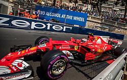 May 27, 2017 - Monte-Carlo, Monaco - Kimi Raikkönen of Finland and Scuderia Ferrari driver goes during the qualification on Formula 1 Grand Prix de Monaco on May 27, 2017 in Monte Carlo, Monaco. (Credit Image: © Robert Szaniszlo/NurPhoto via ZUMA Press)