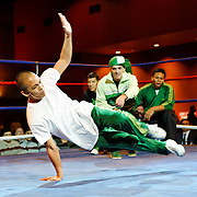 Break-Dancers perform between boxing matches at the Meidenbauer Center in Bellevue, WA on December 13, 2008.