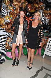Left to right, MEREDITH OSTROM and SASHA VOLKOVA at the Mulberry Spring/Summer 2012 - London Fashion Week afterparty held at Claridge's, Brook Street, London on 18th September 2011.