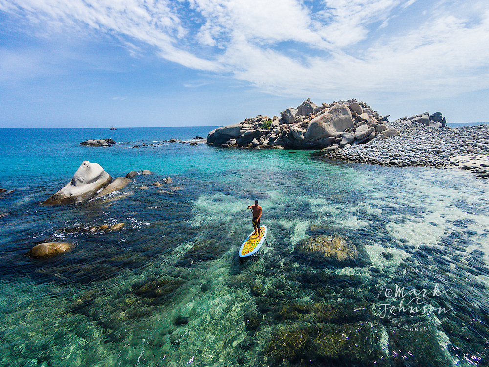 Stand-Up Paddle Boarding at Cabo Pulmo, Gulf of California, Baja California Sur, Mexico