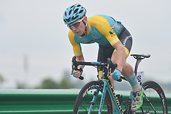 September 15, 2017 - Chenghu City, United States - Matvey Nikitin from Astana City team during the fourth stage of the 2017 Tour of China 1, the 3.3 km Chenghu Jintang individual time trial. .On Friday, 15 September 2017, in Jintang County, Chenghu City,  Sichuan Province, China. (Credit Image: © Artur Widak/NurPhoto via ZUMA Press)