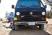 Van camping. Decend on Bend. Central Oregon.