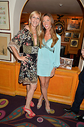 Left to right, TANIA BRYER and HEATHER KERZNER at the Bedales Art & Design Party hosted by David Linley at Annabel's, 44 Berkeley Square, London on 30th June 2015.