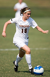Virginia Cavaliers F/M Amy Hemenway (16)..The Virginia Cavaliers women's soccer team defeated the William and Mary Tribe 1-0 in double overtime at Klockner Stadium in Charlottesville, VA on September 23, 2007.