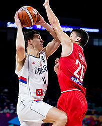 Vladimir Lucic of Serbia vs Zoltan Perl of Hungary during basketball match between National Teams of Serbia and Hungary at Day 11 in Round of 16 of the FIBA EuroBasket 2017 at Sinan Erdem Dome in Istanbul, Turkey on September 10, 2017. Photo by Vid Ponikvar / Sportida