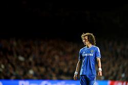 Chelsea Defender David Luiz (BRA) looks on - Photo mandatory by-line: Rogan Thomson/JMP - 07966 386802 - 08/04/2014 - SPORT - FOOTBALL - Stamford Bridge, London - Chelsea v Paris Saint-Germain - UEFA Champions League Quarter-Final Second Leg.