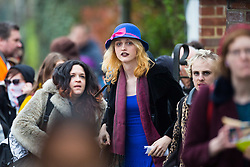 Transexual Tara Wolf, 26, from Stratford, outside Hendon Magistrate's Court in London where she was found guilty of assaulting 61yo Maria MacLachan when a brawl broke out between feminists and transgender activists at Speakers' Corner. London, April 13 2018.