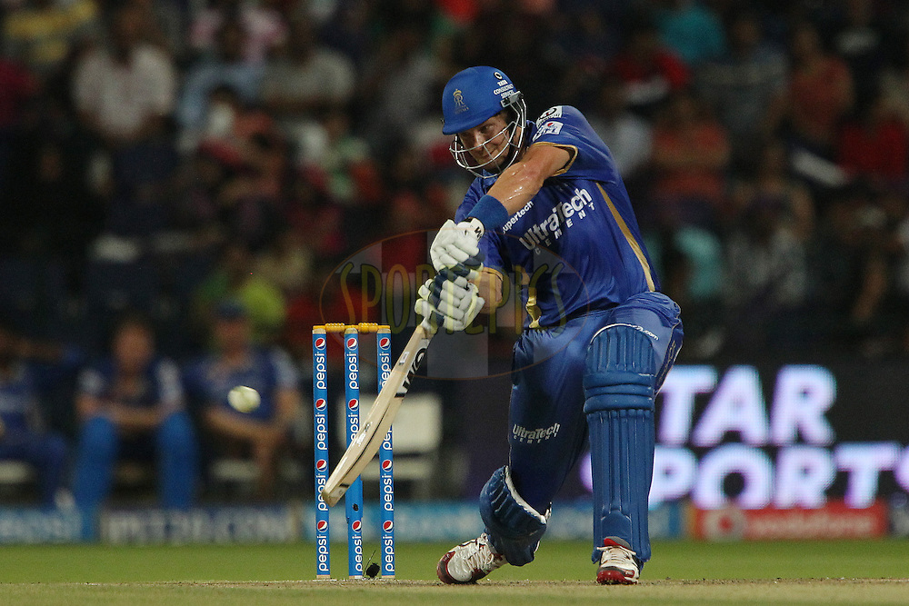 Shane Watson captain of the Rajatshan Royals during match 19 of the Pepsi Indian Premier League 2014 Season between The Kolkata Knight Riders and the Rajasthan Royals held at the Sheikh Zayed Stadium, Abu Dhabi, United Arab Emirates on the 29th April 2014<br /> <br /> Photo by Ron Gaunt / IPL / SPORTZPICS