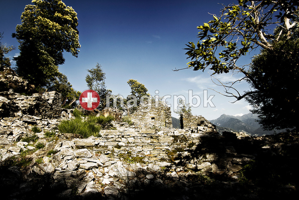 Remains of a rustico stone house are pictured above Corte di Sotto in Monte Carasso, Switzerland, Monday, June 20, 2011. (Photo by Patrick B. Kraemer / MAGICPBK)
