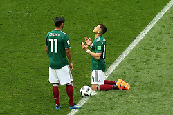 June 17, 2018 - Moscow, Russia - June 17, 2018, Russia, Moscow, FIFA World Cup, First round, Group F, Germany vs Mexico at the Luzhniki stadium. Player of the national team Javier Hernndez Balcsar (Credit Image: © Russian Look via ZUMA Wire)