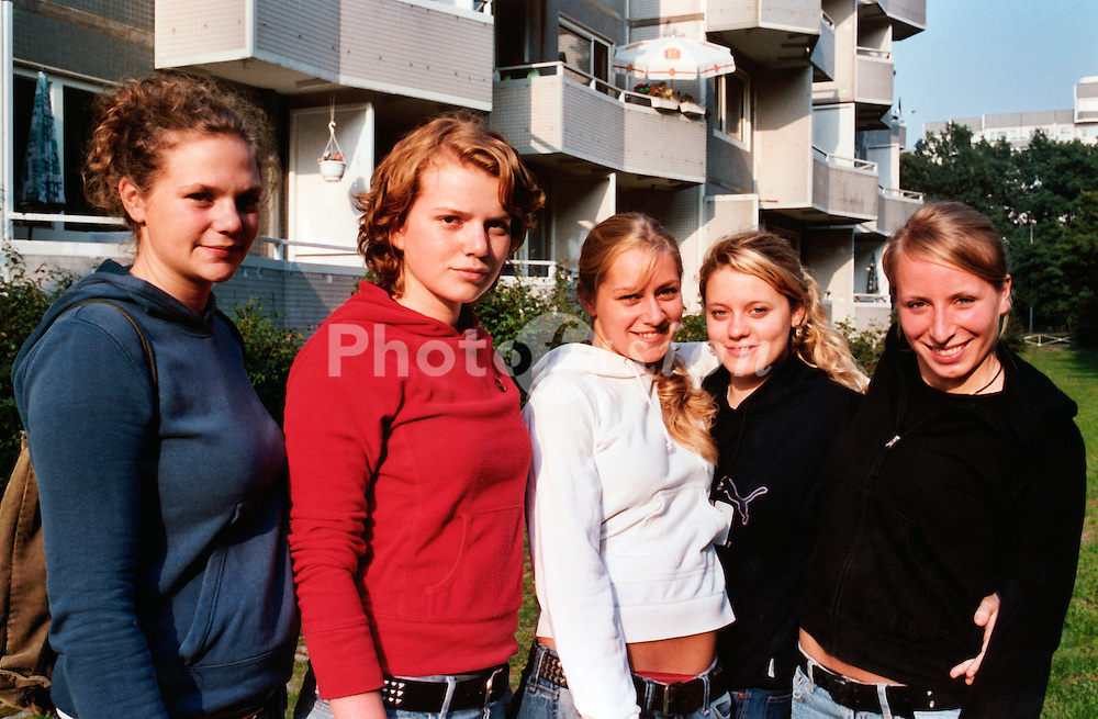Group of teenage girls