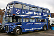 The Millwall bus before the The FA Cup fourth round match between Millwall and Everton at The Den, London, England on 26 January 2019.