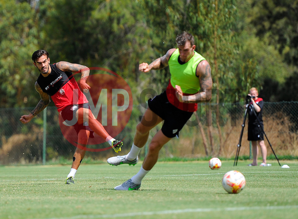 Marlon Pack of Bristol City scores  - Photo mandatory by-line: Joe Meredith/JMP - Mobile: 07966 386802 - 16/07/2015 - SPORT - Football - Albufeira -  - Pre-Season Training