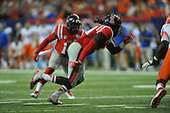 Ole Miss Rebels defensive end Fadol Brown (90) vs. Boise State at the Georgia Dome in Atlanta, Ga. on Thursday, August 28, 2014. Ole Miss won 35-13.
