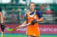 BOOM - Kelly Jonker tijdens de eerste poule wedstrijd van Oranje tijdens het Europees Kampioenschap hockey   tussen de vrouwen Nederland en Ierland. ANP KOEN SUYK